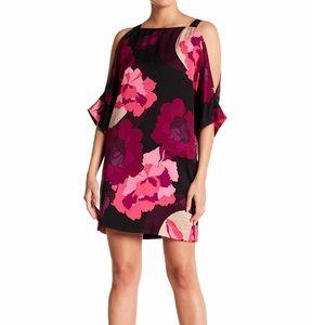 TRINA TURK- Floral Cold Shoulder Dress. Size M